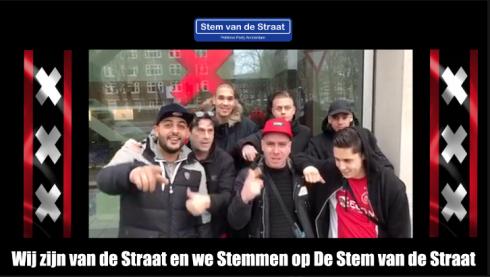 Wij zijn van de Straat en we Stemmen op De Stem van de Straat.