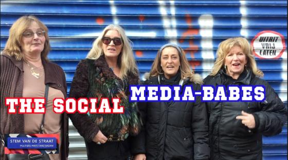 The Social Media Babes van De Stem van de Straat Partij.