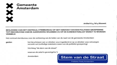 D-Day voor de gewone Amsterdammer met De Stem van de Straat Partij, Rat in pak in paniek.