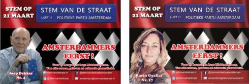 Stem vd Straat:Kameraad Joop: Geef Amsterdam terug aan de Amsterdammers & Karin eist een Dak boven het Hoofd voor de Laagste Klasse.